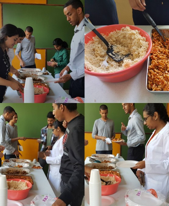 Food sale hosted by Muslim Student Association at IAU