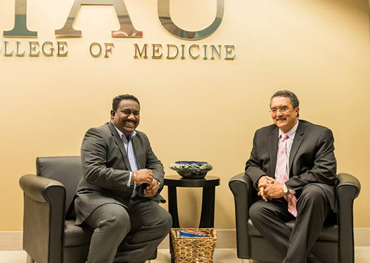 Prime Minister of St Lucia visiting IAU