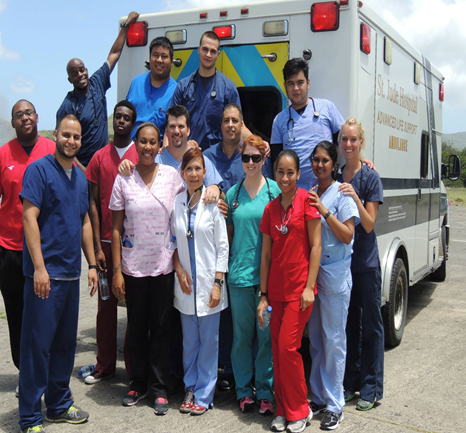 IAU PARTICIPATES IN MASS CASUALTY SIMULATION EXERCISE AT ST. LUCIA'S HEWANORRA AIRPORT.