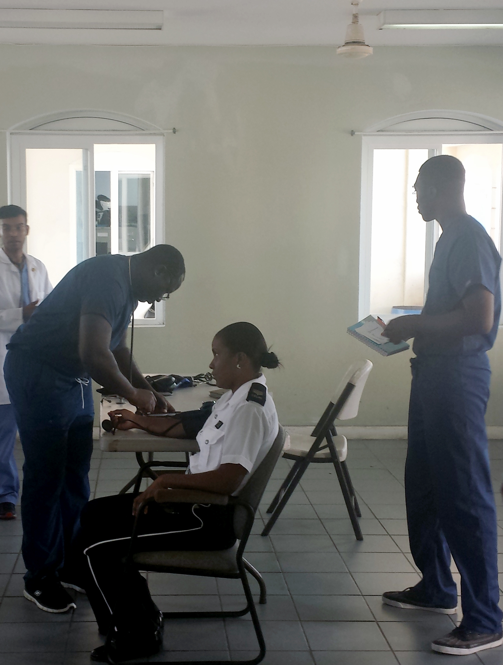 Diabetes & Hypertension Screenings at the Vieux Fort Police Station