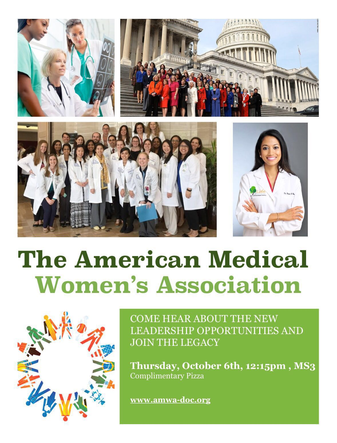 """Inaugural meeting of """"The American Medical Women's Association"""" (AMWA)"""